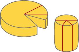 円形チーズの切り方
