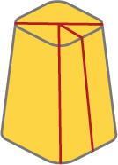 ピラミッド型チーズの切り方