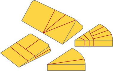 三角形チーズの切り方